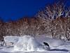 Snow clearing (Jimi Oertli) Tags: powderroom pow powder deeppow snow white blue sky bluesky slash snowboard snowboarding snowboarder tree winter mountain japan niseko hanazono hokkaido firsttrack bluebird