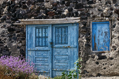 Blue door (marko.erman) Tags: santorini cyclades island caldera volcano crater slope steep village sony scenic beautiful travel popular greece thera house door blue old ancient therasia