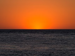 Yep, it's still there. (JKBfoto) Tags: blue gulfofmexico gulf ocean waves tranquil orange sand sunset sun beach