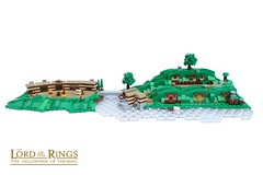 Hobbiton (-Balbo-) Tags: lego moc shire creation bauwerk auenland sandyman´s mill the green dragon inn bag end beutelsend herr der ringe hobbit lordoftherings balbo exploring