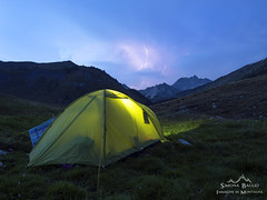 Waiting for the thunderstorm (Simona Baglio Outdoor Photograpy) Tags: thunderstorm mountains blue clouds tent evening summer blumone italy crocedomini meadowland sky estate landscape august montagna paesaggio panorama olympus em5markii mirrorless temporale saette lightning