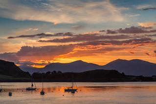 Sunset in Oban, Scotland