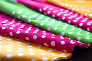 Polka Dot Colourful Fabrics