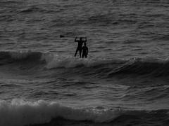 Achievement (rachael242) Tags: surf surfing board paddle ocean atlantic people black white waves sport exercise abstract landscape achievement