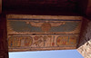 Colored Cartouche of Ramses III under the Solar Disk ... (berniedup) Tags: medinethabu luxor egypt ramsesiii temple cartouche ceiling pylon