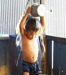 Air merupakan kebutuhan dasar bagi semua (USAID Indonesia) Tags: air water sanitasi sanitation mandi shower children anak keluarga family desa village
