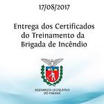 Entrega dos Certificados do Treinamento da Brigada de Incêndio