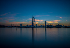 portsmouth harbour blue (veik88) Tags: nikond800 portsmouth sea spinnakertower seascape landscapes seasons bluehour