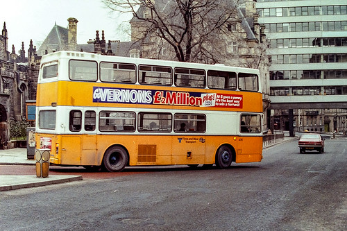 Newcastle Buses - January 1985 - Fleet No. 496