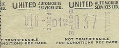 United Automobile Services Ltd. Bus Ticket (Ray's Photo Collection) Tags: scan scanned document united automobile services ltd bus buses ticket travel