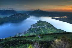 Rigi Sunset (hapulcu) Tags: rigikaltbad lakeoffourcantons alpen alpes alpi alps luzern rigi schweiz suisse suiza svizzera swiss switzerland vierwaldstättersee alpine lake spring