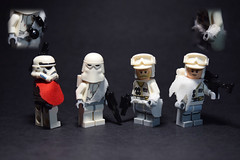 Custom Cloths for SW Figs (RagingPhotography) Tags: lego star wars galactic empire imperial stormtrooper snowtrooper rebellion rebel alliance civil war custom minifigure minifig figs figure moc fabric cloth kama pauldron ragingphotography