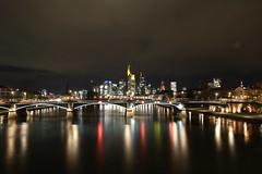 IMG_5966 (AndyMc87) Tags: frankfurt skyline water wasser main reflection fluss river bridge skyscraper longtimeexposure langzeitbelichtung lightstreams lighttrails clouds night ilumination iluminated hessen