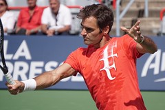 Will Rogers Cup become Roger's Cup? (beyondhue) Tags: roger federer tennis player montreal rogers cup beyondhue action hit racquet uniprix stadium quebec canada men singles tour