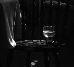 Shadows (John Neziol) Tags: jrneziolphotography nikon nikondslr nikoncamera nikond80 naturallight shadow shadows monochrome brantford blackwhite lowkey beerglass glass reflections reflection chair portrait smileonsaturday black at the back blackattheback