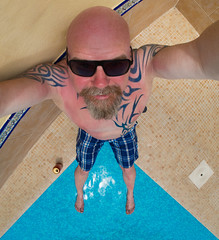 Tenerife, The Canary Island, Spain. June 2017. (CWhatPhotos) Tags: cwhatphotos tattoo tattoos ink man male bald head baldy hotel appartments bambi pool feet chilling tenerife olympus four thirds 43 digital camera photographs photograph pics pictures pic picture image images foto fotos photography artistic that have which with contain artistc art june 2017 holidays holiday time spain espana puero del la cruz puetadellacruz selfee selfie tribal tattooed chest torso inked rfbambi appartmentos