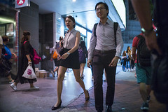 Off Work (人間觀察) Tags: leica m240p leicam leicamp f20 f2 hong kong street photography people candid city stranger mp m240 public space walking off finder road travelling trip travel 人 陌生人 街拍 asia girls girl woman 香港 wide open ms optics apoqualiag 28mm apoqualia optical night
