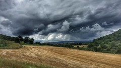 (michaeljoakes) Tags: color colour summer outdoor countryside hay hills field clouds sky shropshire landscape iphone shropshireway
