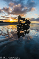 lt-080-SS1601230_62869 (LDELD) Tags: peter iredale fort stevens graveyard pacific sunrise ocean beach shipwreck clouds sand waves reflections morning dawn clatsop oregon sea water sky