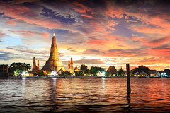 Wat Arun (Patrick Foto ;)) Tags: ancient architecture arun asia asian attraction background bangkok beautiful buddhism chaopraya city cityscape copyspace culture dawn destinations dusk east famous holiday landmark oriental phraya place prang reflection religion religious river shrine silhouette skyline southeast spirituality stupa sunrise sunset temple thai thailand tourism traditional travel twilight vacations wat water krungthepmahanakhon th