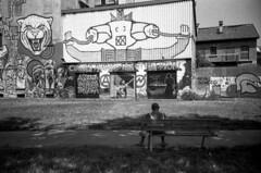 Milano (Valt3r Rav3ra - DEVOted!) Tags: lomo lomography lca lomolca streetphotography street streetart milano bw biancoenero blackandwhite valt3r valterravera visioniurbane urbanvisions 35mm analogico analogica analog analogue persone people bench panchina ilfordhp5 ilford russiancamera sovietcamera