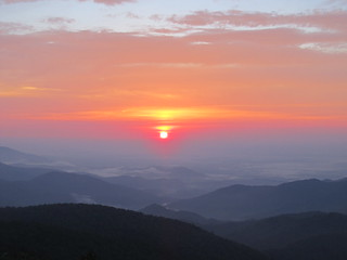mountain sunrise ...