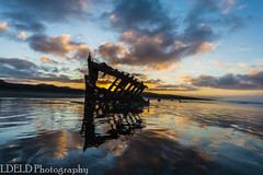 lt-080-SS1601230_62875 (LDELD) Tags: peter iredale fort stevens graveyard pacific sunrise ocean beach shipwreck clouds sand waves reflections morning dawn clatsop oregon sea water sky