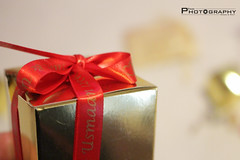 Present (FocusPhotography17) Tags: bokeh present blur gold red small box