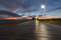 boardwalk sunset (Marc McDermott) Tags: sunset clouds lamp boardwalk sky wet after rain ontario canada lakeontario evening longexposure beautiful summer