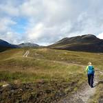 On a track up the Coir' a' Mhadaidh thumbnail