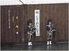 Play bagpipe in the rain (Luc V. de Zeeuw) Tags: bagpipe container scotsman greenock inverclyde scotland