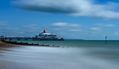 Pier - Eastbourne (Aleem Yousaf) Tags: eastbourne town seaside resort beach pier east sussex long exposure lee filters neutral density wide angle 1835mm nikon d800 southeast coast englishchannel england united kingdom seascape landscape sky clouds groyne compartments sea défense coastal management