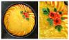 Honey-Peach Cheesecake (Kurokami) Tags: asia asian bake baking blossom blossoms cake cheesecake decorate decorated decorating floral flower flowers folded gum japan japanese kanzashi paste peach pinch pinched tsumami toronto ontario canada