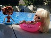 Blythe pullip summer (sieteaguila) Tags: summer bikini floater