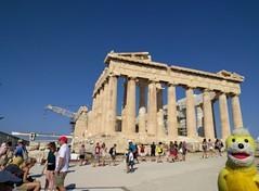 Swami at the Parthenon  - Athens, Greece (ashabot) Tags: athens athensgreece acropolis worldheritagesites travel traveldiaries travelcompanion travelingcompanion traveler unesco parthenon