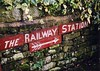 Haworth station (8), 2004 (Blue-pelican-railway) Tags: yorkshire haworth railway station kwvr wall gaslight film kodakgold200