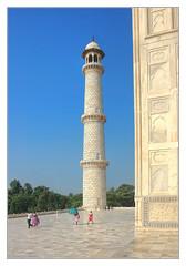 Agra IND - Taj Mahal Minarett 09