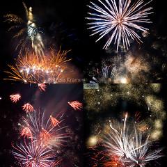 Feuerwerk Collage