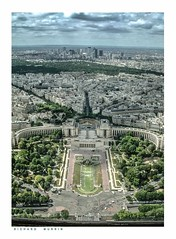 Jardins du Trocadero from the Eifel Tower, Paris, France. (Richard Murrin Art) Tags: jardinsdutrocaderofromtheeifeltower paris france richard murrin art photography canon 5d landscape travel images building cool