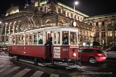 night tram (ignacy50.pl) Tags: tram transportation traffic street night nightscape nightlights cityscape passenger tourists travel wien austria longexposure old wagon