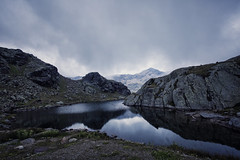 Not to disappear. (Separate Sky) Tags: mountains trentino trentinoaltoadige lake mountain alps italy europe ohdaughter lyrics inspiration quotes moody clouds landscape nature montagna italia alpine mountainscape waterscape