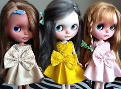 Blythe-a-Day#1. Still Summer: Lacey and The Girls in Their Summer Party Dresses