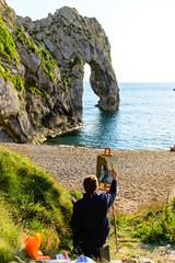 Painting the Durdle Door (George Plakides) Tags: artist painting durdledoor jurassiccoast dorset sea arch rocks