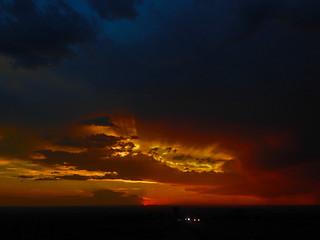 Sunset in Albuquerque. New Mexico, USA.