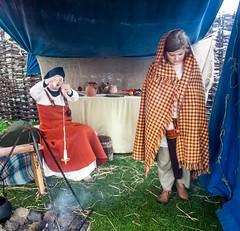 Viking Village 11 (allybeag) Tags: largs vikingvillage crafts historical reenactment spinning wool dropspindle