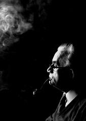 IMMN_36_38_DadPipe (nick.warwick2) Tags: father dad pipesmoker smoking profile smoke