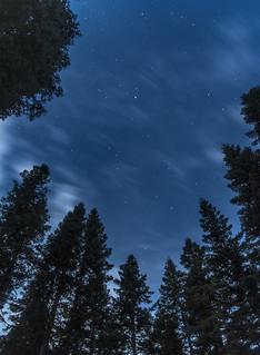 Night sky from Lassen's Manzanita Lake Campground