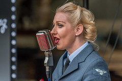 The Bluebird Bells at Duxford - Battle of Britain Airshow - 23-9-17. (Anthony P Morris) Tags: bluebirdbells thebluebirdbells duxford airshow battleofbritain singers singing harmony anthonypmorris farmoor oxford oxfordshireduxfordenglandunitedkingdomgb