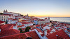 Sunrise at the Miradouro das Portas do Sol (pong0814) Tags: canon eos 5dii dslr photography lisbon portugal ef1740f4l outdoors ultrawide sunrise light miradouro overlooking horizon travel travelphotography beauty morning summer august 2017 rooftops