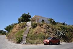 summer moods (JoannaRB2009) Tags: summer mood kissamos crete kreta kriti house home building architecture car street hill blue weather hot sunny